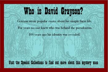 David Grayson Online Exhibit Flyer