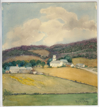 Ruth Burgess watercolor of landscape