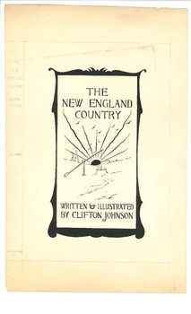 Illustration for the cover of <em>The New England Country</em>