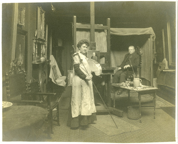 Ruth Payne Burgess and John W. Burgess in New York studio