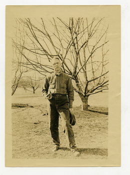Ray Stannard Baker in front of a tree