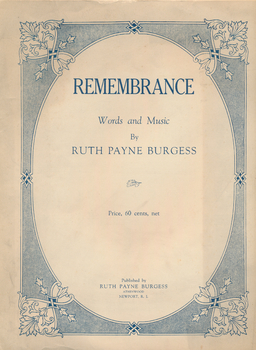 Ruth Burgess Remembrance music score