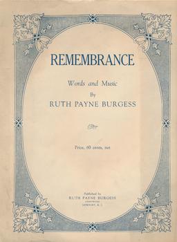 Ruth Burgess Remembrance music score
