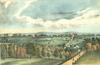 Autumnal scenery, view in Amherst