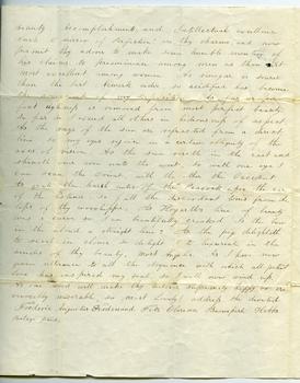 Fanny Gridley letter