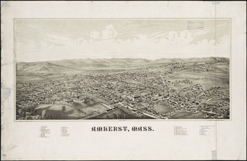 Bird's-eye view of Amherst