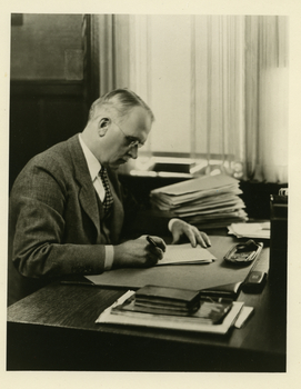 Ray Stannard Baker at desk