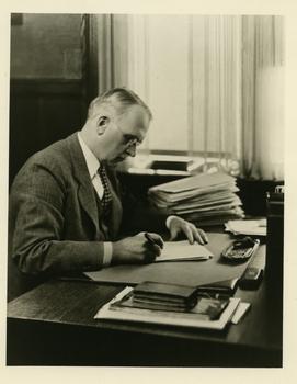 Ray Stannard Baker at desk