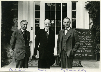 Ray Stannard Baker in front of the Jones Library