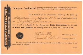 Clifton Johnson delegate credentials