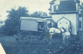 Grange Store delivery cart in Amherst