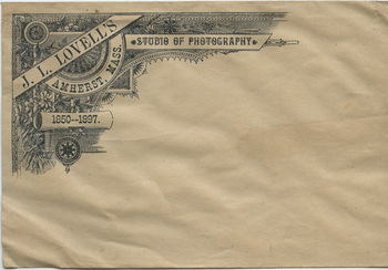 Envelope from Lovell's Amherst Picture Gallery