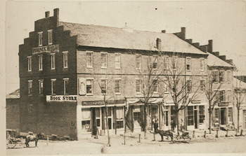 Cook's Block in Amherst before renovation