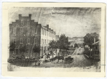 Phoenix Row and Main Street in Amherst, 1840