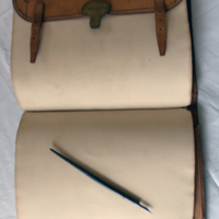 Writing case and pen of Samuel Minot Jones