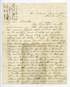 Civil War letter from Samuel Minot Jones to his brother, March 16, 1862