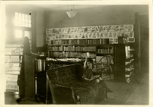 jones library collection_undated_young girl reading at amherst house.jpg