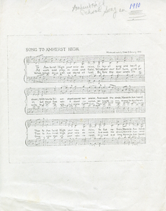 amherst high school song_1910_amherst high school song music and lyrics page.jpg