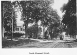 North Pleasant Street in Amherst with trolley car